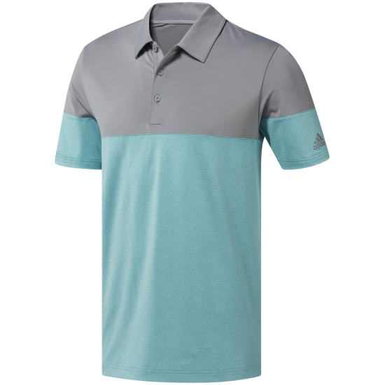 Adidas Ult Heather Block Polo Tru Green
