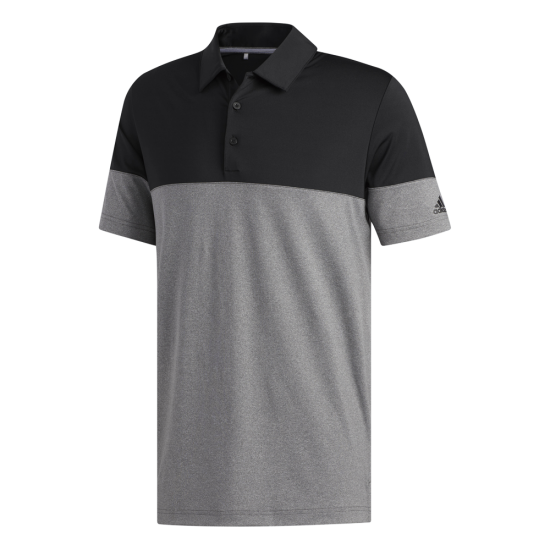 Adidas Ult Heather Block Polo Grau