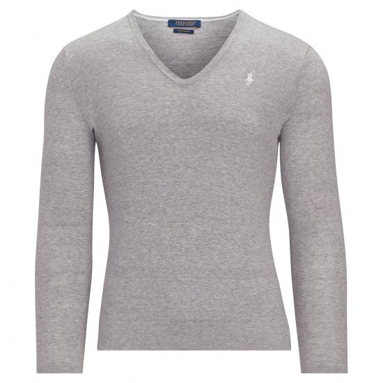 Ralph Lauren V-Neck Pullover Grau