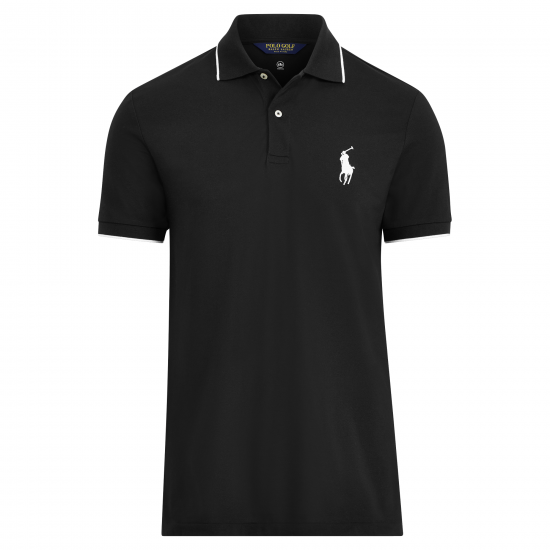 Ralph Lauren Slim Performance Polo Schwarz
