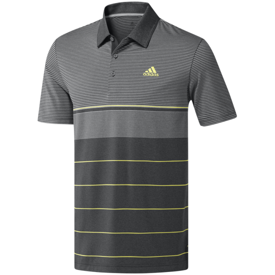 Adidas Ult Heather Stripe Polo Grau
