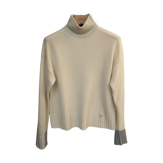 Spoon Round Neck Cashmere Pullover