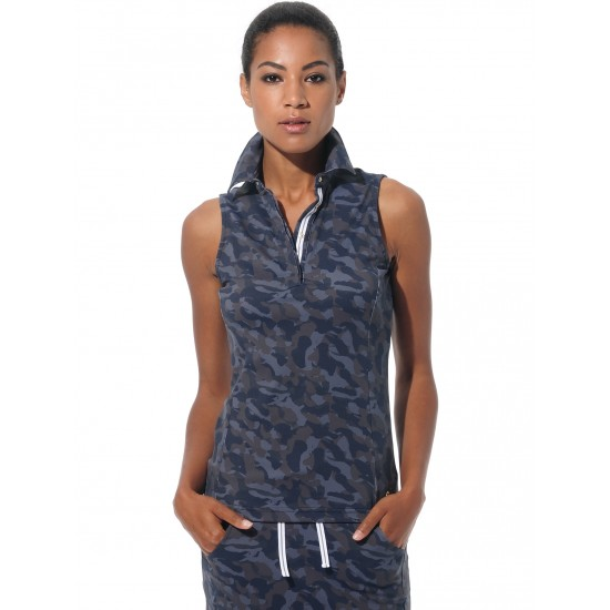 MDC Print Polo camouflage night blue
