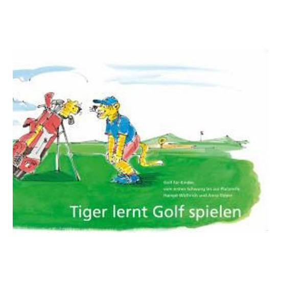 Tiger lernt Golf spielen